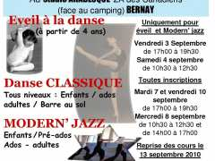 photo de INSCRIPTIONS POUR L'ECOLE DE DANSE ARABESQUE DE BERNAY